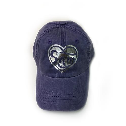 Purple Sam Hat Style - Foil Heart