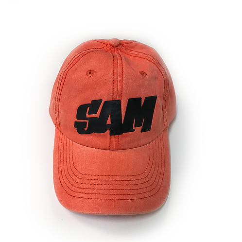 Sam Hat Style - Black Block Text
