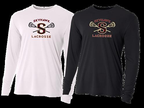 "Men's/Youth L/S Dry Fit Shirt - Skyhawk ""S"" Lacrosse"