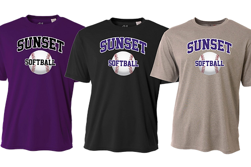 Men's Dry Fit Shirt - Sunset Softball
