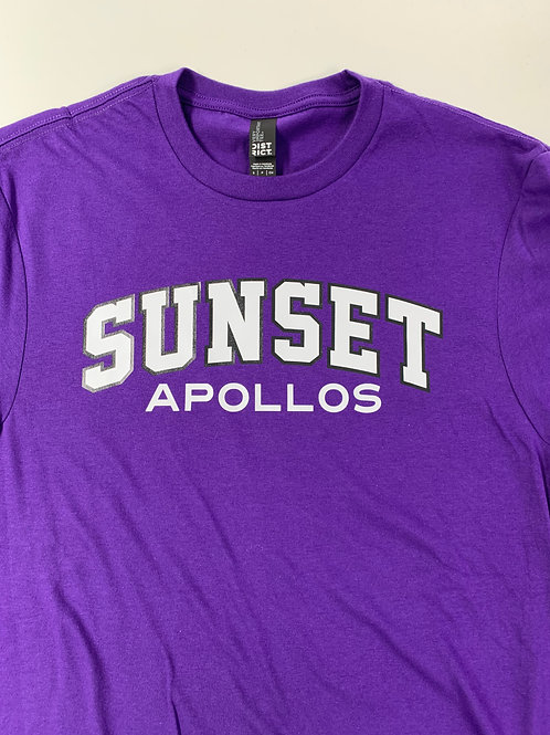 Men's S/S Cotton Tee - Sunset Apollos