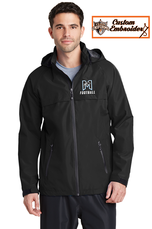 Men's Waterproof Jacket with Hood - M Football