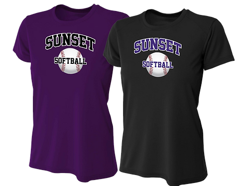 Ladies Dry Fit Shirt - Sunset Softball