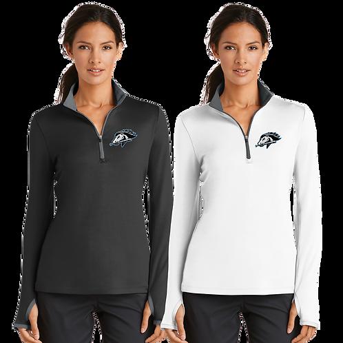 Ladies Nike 1/2 Zip Pullover -Mountainside Baseball