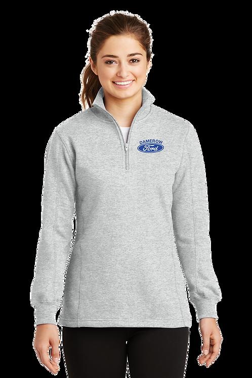 Ladies 1/4 Zip Sweatshirt - Damerow Ford