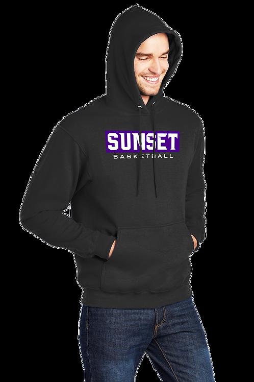 Cotton Hoodie - Sunset Basketball Box Logo