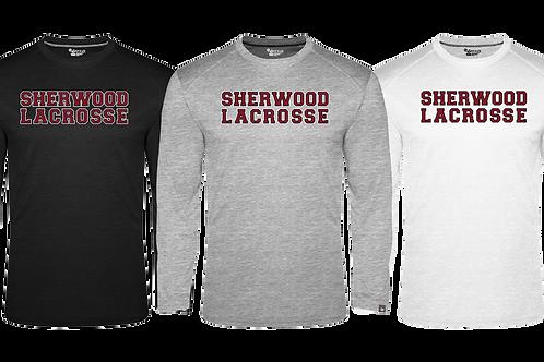 Men's Badger Fit Flex L/S Tee - Sherwood Lacrosse Font