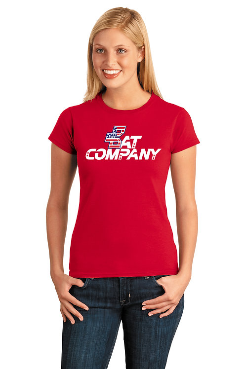 Ladies Bat Company Cotton Tee-Red