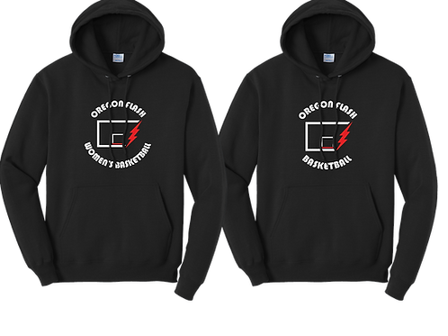 Unisex Cotton Hoodie - Circular Flash Logo
