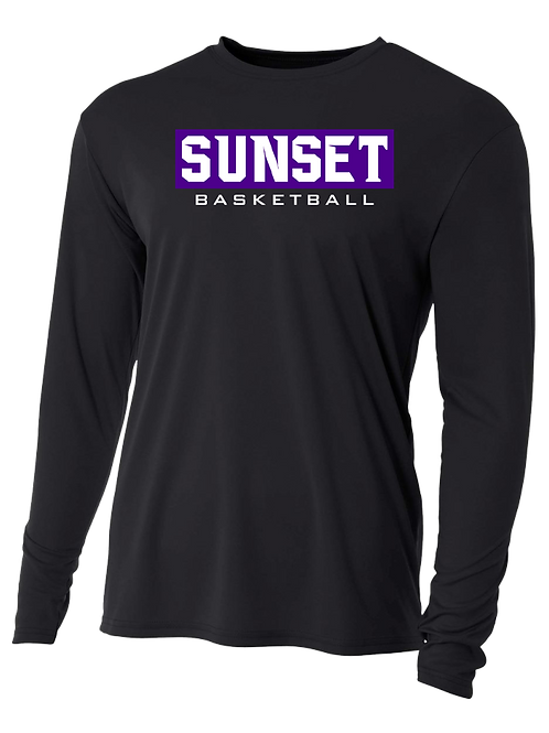 L/S Shooting Shirt - Sunset Basketball Box Logo