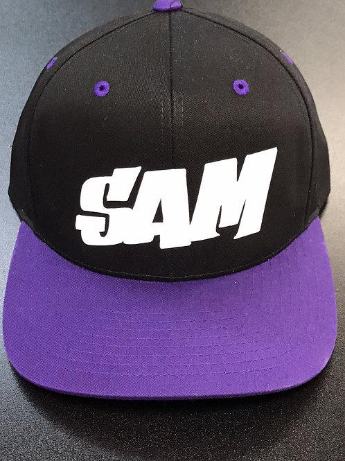 Purple/Black 302C Sam in White - Block