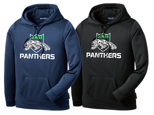 Dry Fit Hoodie - St. Pius Panthers Logo