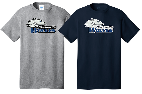 100% Cotton Tee - Springville Wolves