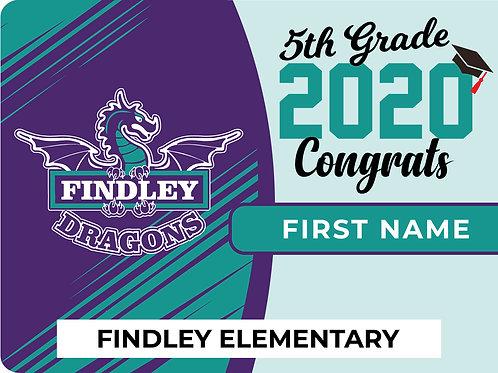 Findley Elementary 5th Grade Yard Sign