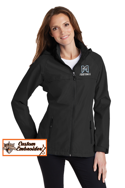 Ladies Waterproof Jacket with Hood - M Football