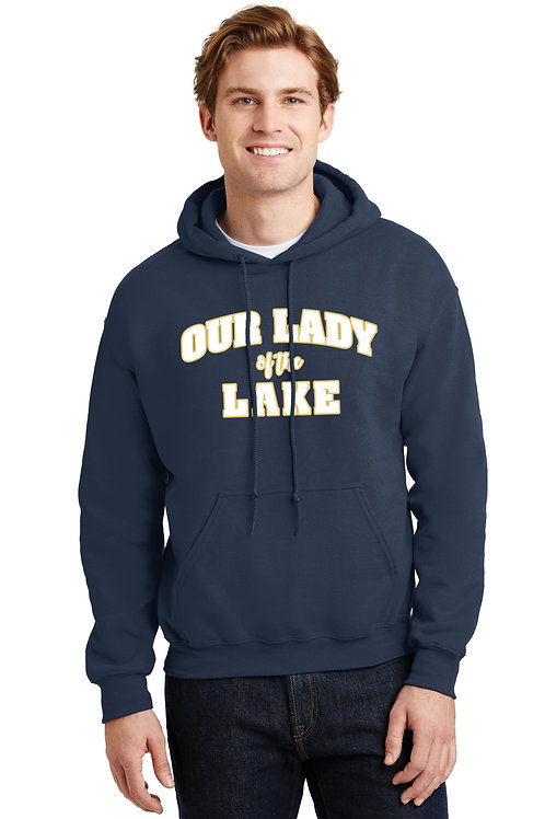 Our Lady of the Lake Cotton Hoodie - Navy