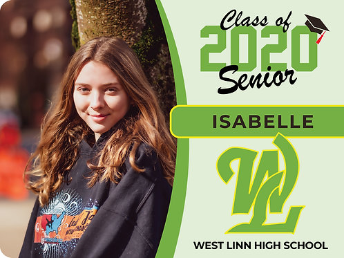 West Linn 2021 Senior Yard Sign