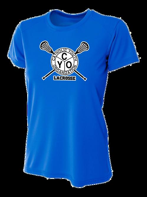 Ladies S/S Dry Fit Shirt - CYO Lacrosse
