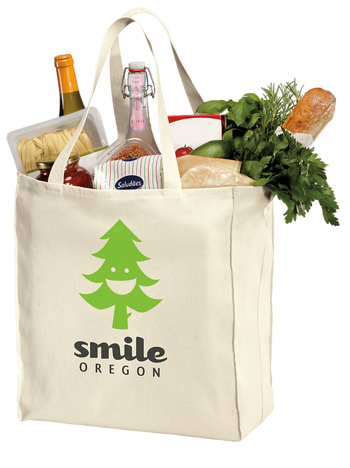 Grocery Tote Bag - Smile Oregon