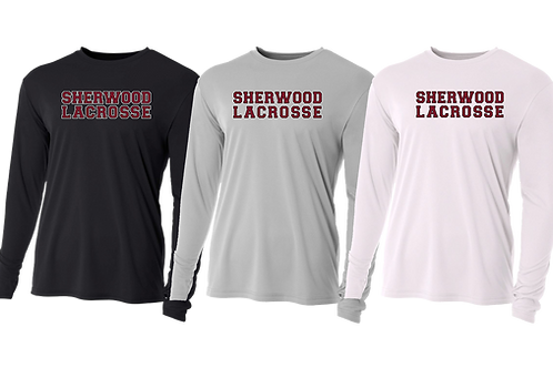 Men's/Youth L/S Dry Fit Shirt - Sherwood Lacrosse Font