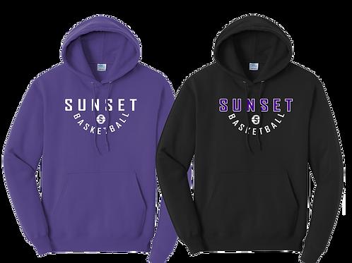 Cotton Blend Hoodie - Sunset Basketball