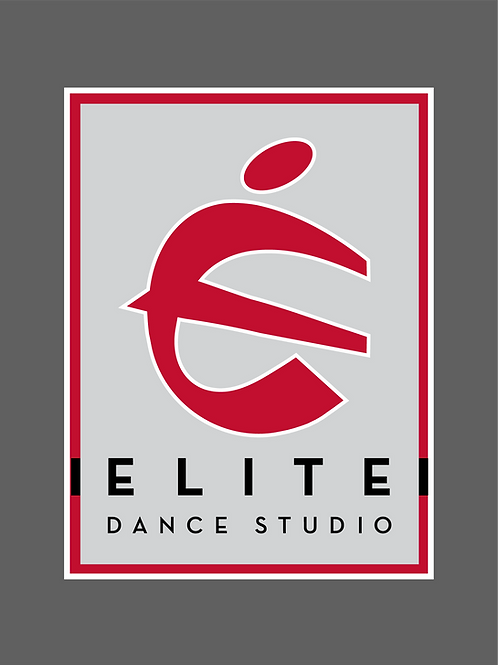 "Elite Dance Studio Sticker  4"" x 5.5"" Rectangle"