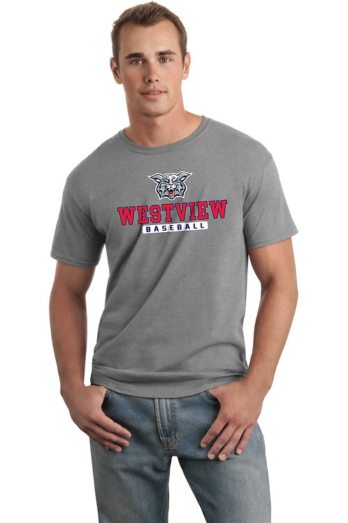 Dry-Fit Tee-Grey with Westview Baseball Logo