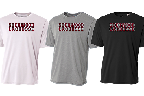 Men's/Youth Dry Fit Shirt - Sherwood Lacrosse Font Logo