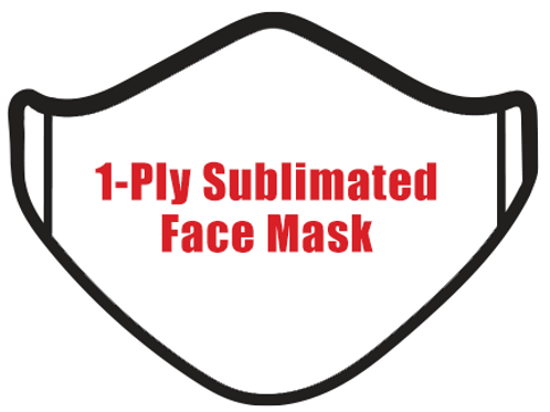 1-Ply Sublimated Face Mask