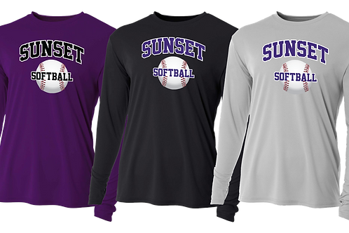 Men's L/S Dry Fit Shirt - Sunset Softball