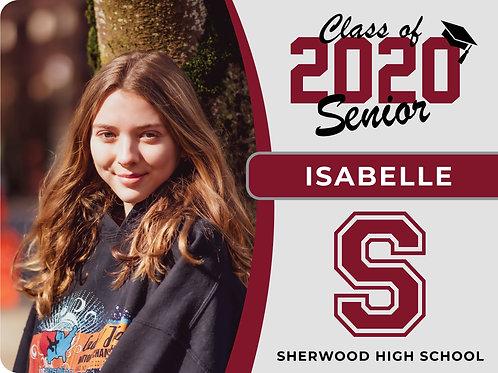 SHERWOOD 2021 Senior Yard Sign
