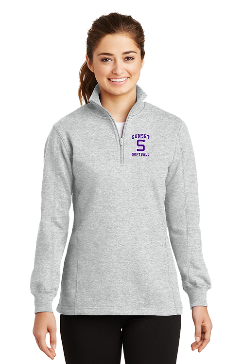 Ladies 1/4 Zip Pullover - Sunset Softball