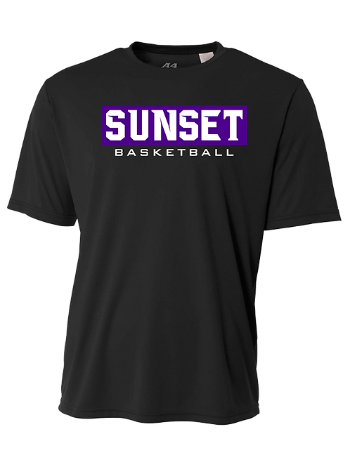 Men's/Youth S/S Dry Fit Shirt - Sunset Basketball Box Logo