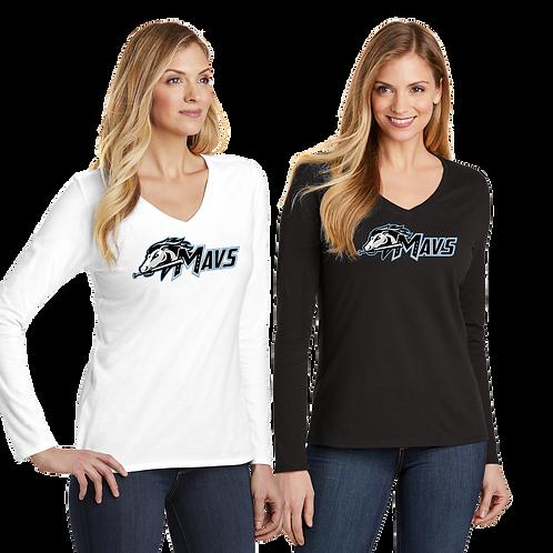 Ladies L/S Cotton Tee - Mavs Baseball