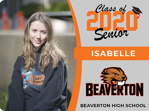 Beaverton 2021 Senior Yard Sign