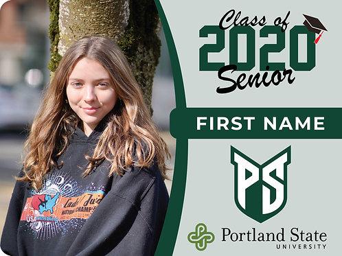 Portland State University 2021 Senior Yard Sign