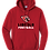 Thumbnail: Cotton Hoodie - Cardinal Head Football Logo