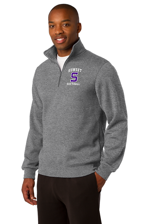 Sport-Tek® 1/4-Zip Sweatshirt - Sunset Softball