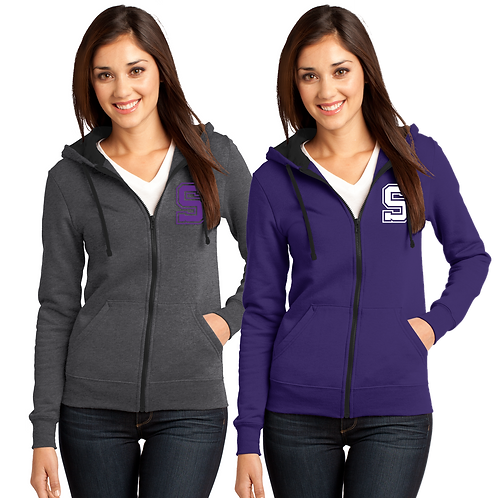 Ladies Full-Zip Hoodie - Sunset Lax