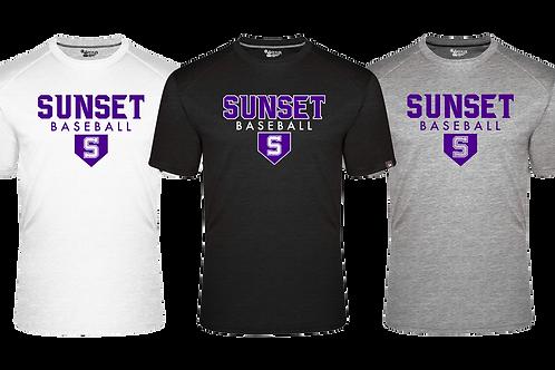 Men's Badger Fit Flex S/S Tee - Sunset Baseball