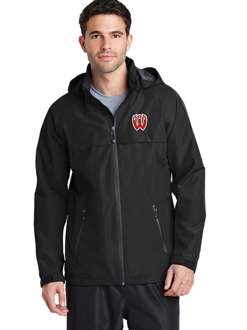 Men's Waterproof Jacket with Hood - Black-Westview