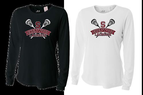 Ladies L/S Dry Fit Shirt - Sherwood Lax