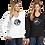 Thumbnail: Ladies L/S Cotton Tee - Circular JBO Baseball Logo