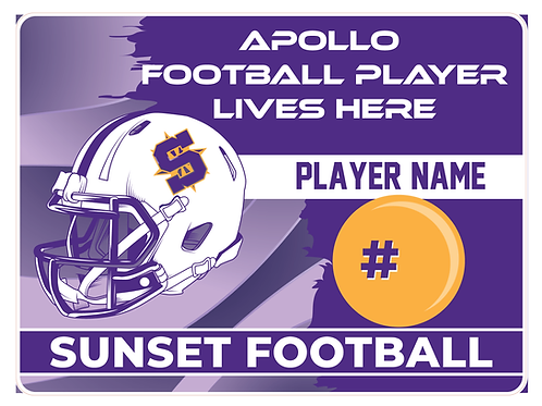 Sunset Football Player Sign 2021