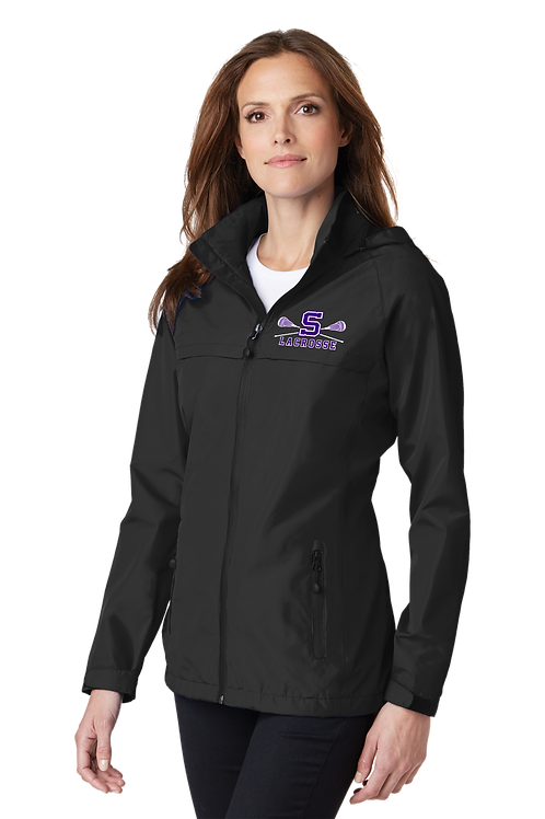 Ladies Rain Jacket -Sunset Lax - Black