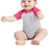 Thumbnail: Infant Baseball Fine Jersey Bodysuit Vintage - Hot Pink