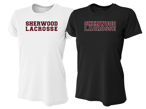 Ladies Dry Fit Shirt - Sherwood Lacrosse Font