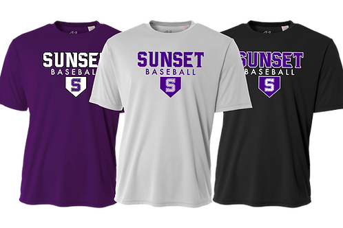 Men's/Youth Dry Fit Shirt  - Sunset Baseball