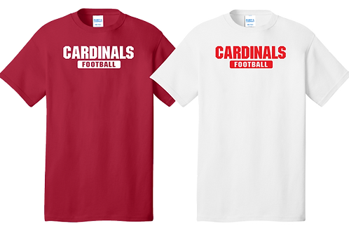Men's/Youth Cotton Tee - Cardinals Football
