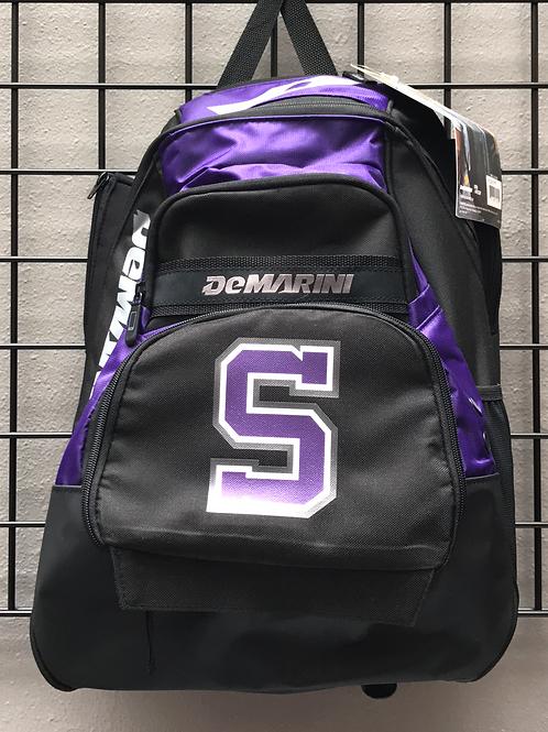 DeMarini Baseball Back Pack - Purple/Black